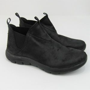 Skechers Dual-Lite Memory Foam Ankle Booties Shoes